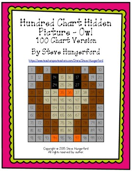 Hundred Chart Hidden Picture - Owl