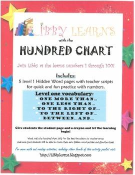 Hundred Chart Hidden Words (level 1)