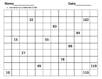 Hundred Chart Vertical and Horizontal
