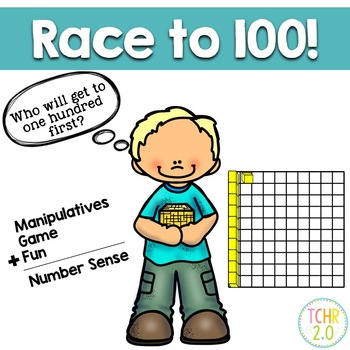 100th Day Math Hundred Flat Race Place Value