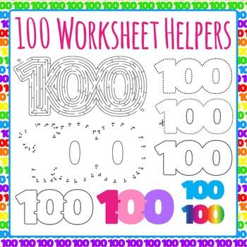 Hundred Worksheet Helpers Commercial Use Clip Art Pack