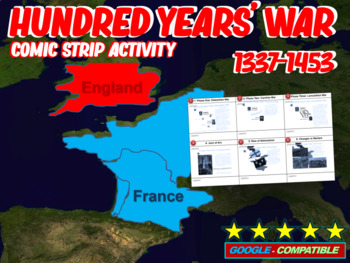 Hundred Years' War PowerPoint and Comic Strip Activity - F