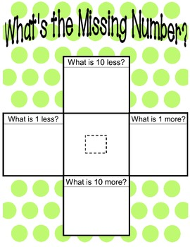 Hundred charts to 1000 Find the Missing Number Activity CCLS NBT