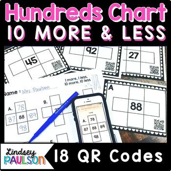 1 more 1 less Hundreds chart