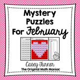 Hundreds Board Color By Number Mystery Puzzles for February