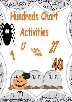Hundreds Chart Activities - Halloween Theme