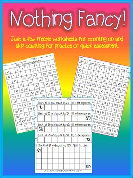 Hundreds Chart Activities, Nothing Fancy!