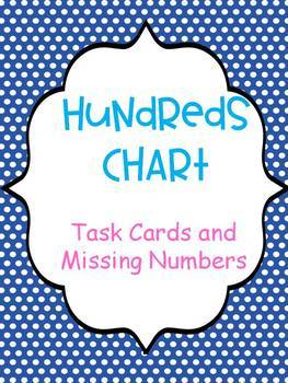 #springbackin Hundreds Chart (Missing Numbers and Task Cards)