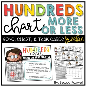 Hundreds Chart More or Less Song, Chart, and Task Cards FREEBIE