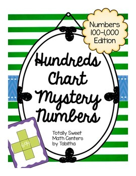 Hundreds Chart Mystery Number Math Routine 100-1,000