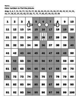 "Hundreds Chart ""Robot"""