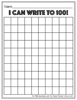 Hundreds Chart Write Numbers to 100 - Leveled