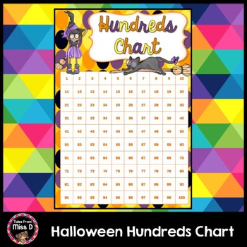 Halloween Hundreds Chart FREEBIE