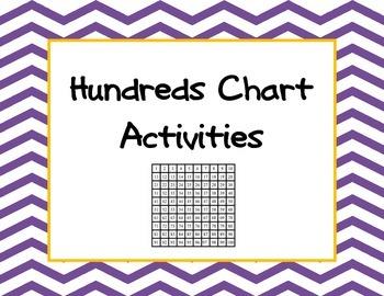 Hundreds chart cards