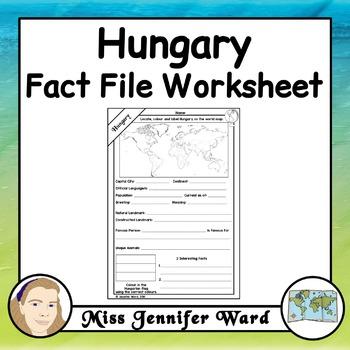 Hungary Fact File Worksheet