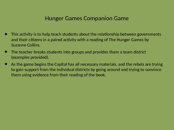 Hunger Games Companion Game