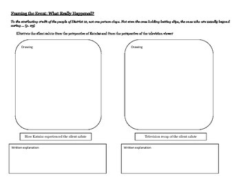 Hunger Games Freebie: Close Reading The Silent Salute