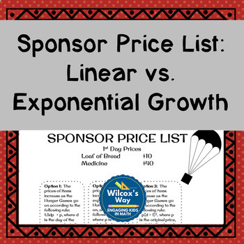 Sponsor Price List:  Linear vs. Exponential Growth