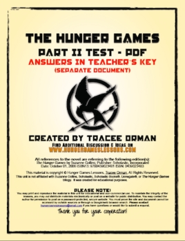 Hunger Games Part 2 Test: Review Activity & Essay Test