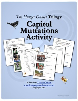 Hunger Games Trilogy Capitol Mutts Creative Activity