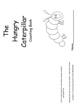 Hungry Caterpillar Counting Book Response to Carle with C.