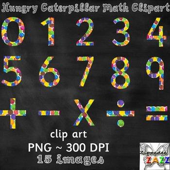 Hungry Caterpillar Math Clipart