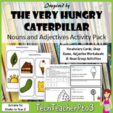 Hungry Caterpillar Inspired Noun and Adjectives Activities Pack