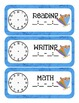 Caterpillar Themed Classroom Schedule