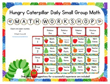 Caterpillar Themed Classroom Small Group Math Center/ Work