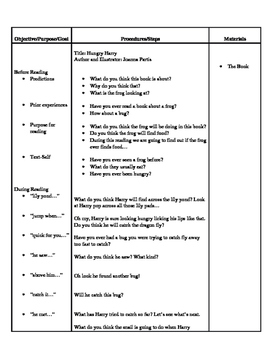 Hungry Harry Lesson Plan