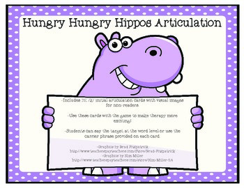 Hungry Hungry Hippos Articulation-/R/ Initial
