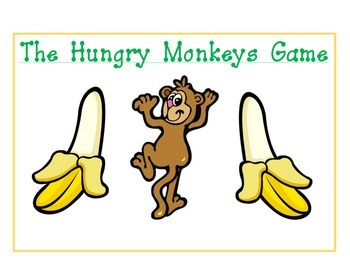 Hungry Monkey Place Value File Folder Game
