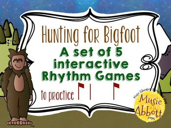 Hunting for Bigfoot, a collection of rhythm games {syncopa}