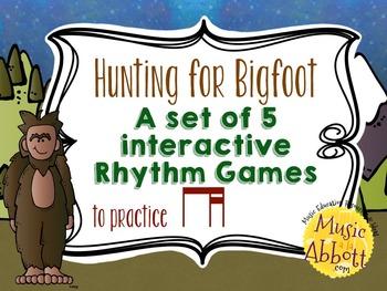 Hunting for Bigfoot, a collection of rhythm games {ti-tika