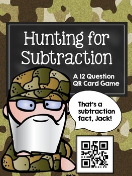 Hunting for Subtraction: a QR Code Math Game (two digit, n