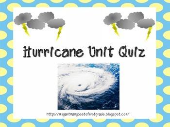 Hurricane Unit Quiz {FREEBIE}