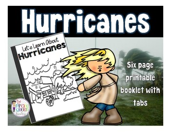 Hurricanes: Printable Tab Booklet for Weather Science