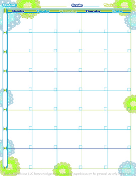 Hydrangea Floral Decorative Lesson Plan Template - 1 page