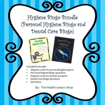 Hygiene Bingo Bundle (Personal Hygiene Bingo and Dental Ca