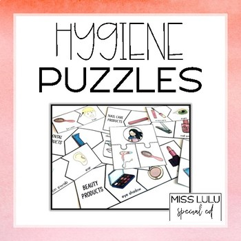 Hygiene Puzzles for Special Education