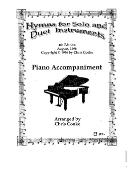 Hymns for Solo or Duet Instruments Piano Accompaniment