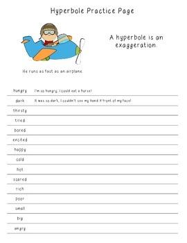 Hyperbole Practice Page
