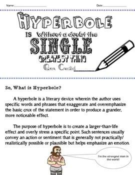 Hyperbole Unit Plan- Fun Reproducible Worksheets
