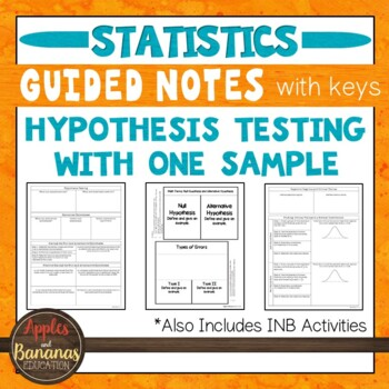 Hypothesis Testing with One Sample - Statistics INBs and S