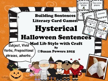 Hysterical Halloween Mad Libs Style Card Activity Building