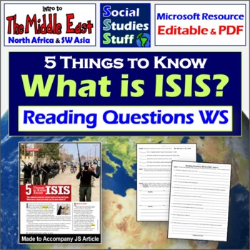 5 Things to Know About ISIS Worksheet for great Jr. Schola
