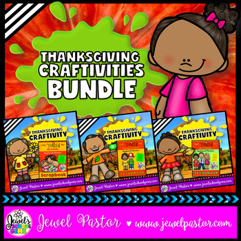 Thanksgiving Craftivities BUNDLE (I Am Thankful For Writin