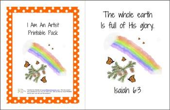 I Am An Artist Printable Pack