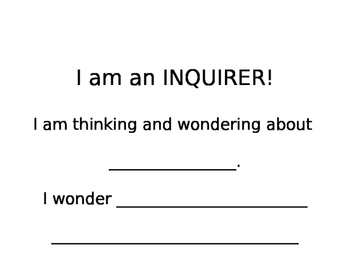 I Am An Inquirer