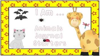 I Am ... Animal Journal Starters